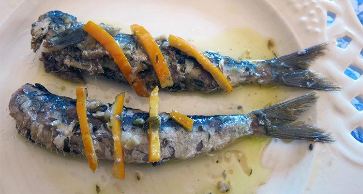 Sardines escabetxades amb taronja