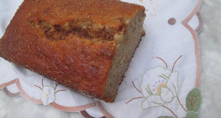 Cake de plàtan i ametlla