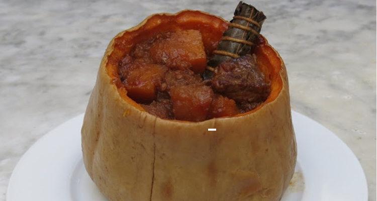 Carn estofada amb carbassa