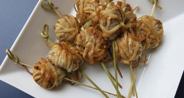 Broquetes de porc encabdellades