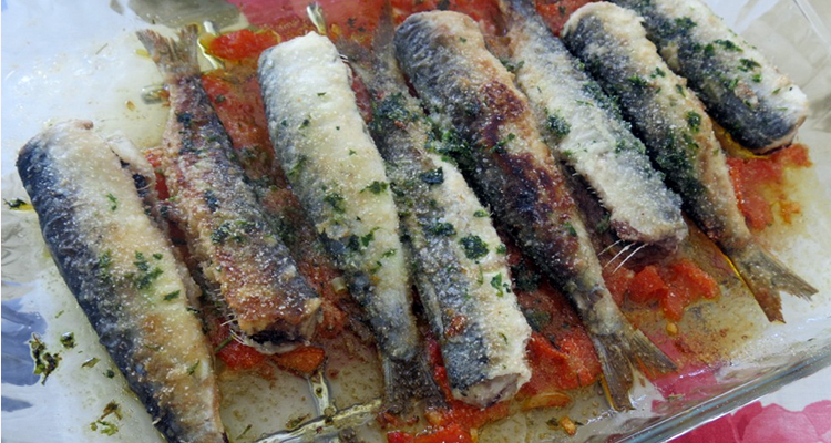 Sardines al forn