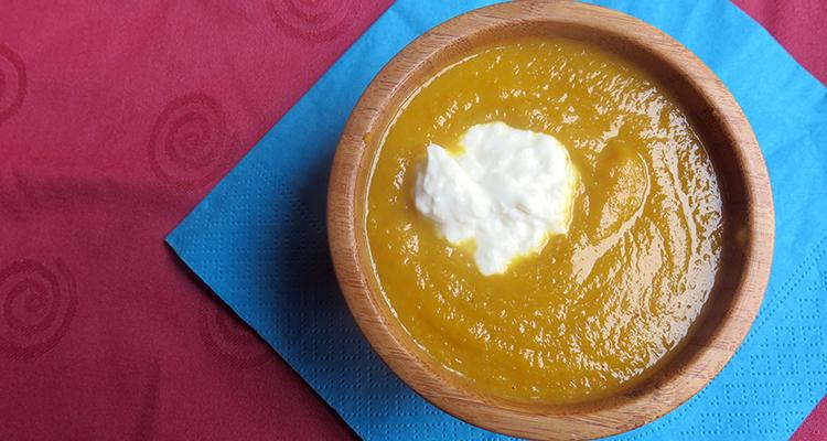 Crema de pastanaga amb gírgola de castanyer
