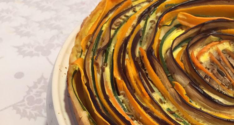 Quiche de verdures en espiral
