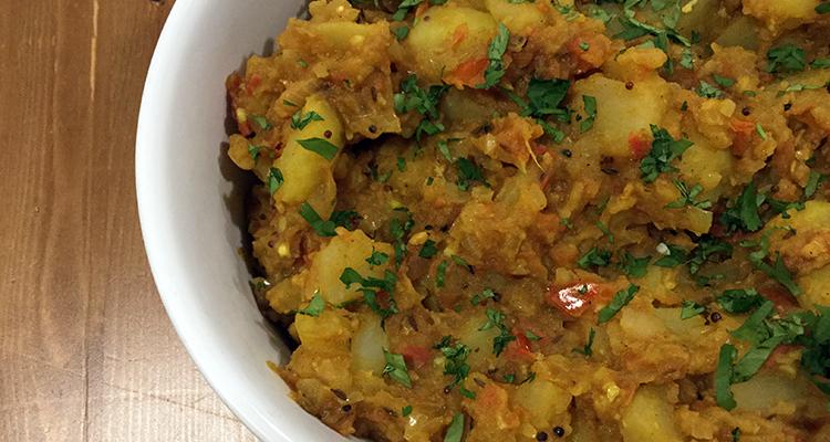 Patates a l'estil de Bombai