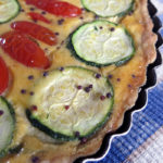 Quiche de carbassó, idiazabal i cirerols