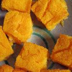 <i>Crostini</i> de polenta amb carbassa